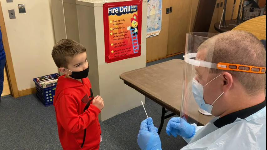 COVID-19 testing at Baldwinsville Central School D...