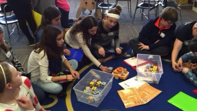 OHMS Students Learning with WPS Students