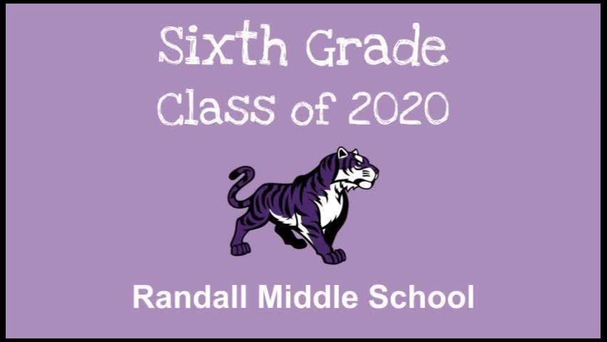 Randall 6th Grade Class of 2020